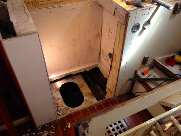 Galley Remodel Project- Pt. 2: Repairing the Fuel Tank