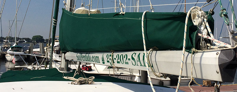 Giveaways, sails, rigging, and other boat things.