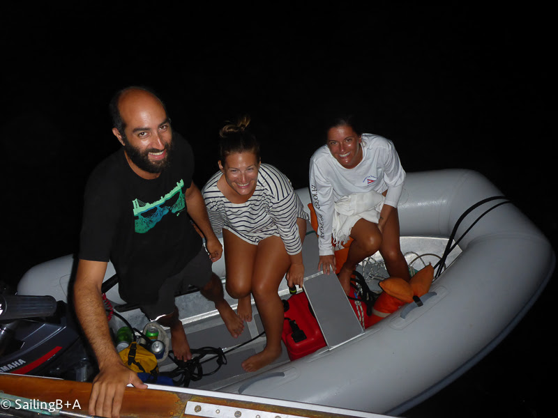 Late night shenanigans made possible by the dinghy!