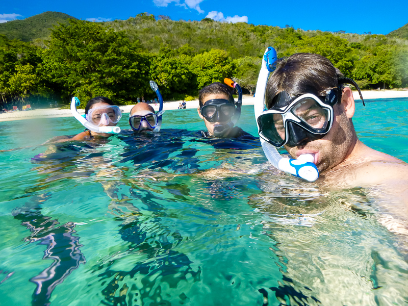 Family snorkel was the first order of business.
